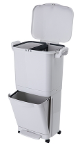 Бак для сортировки мусора Xiaomi Nakko Double Layer Sorting Trash Can 45L White