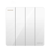 Выключатель четверной Xiaomi OPPLE Lighting Wall Switch Socket White K12 Four Open Dual Control