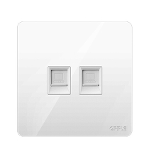 Розетка компьютерная двойная Xiaomi OPPLE Lighting Wall Switch Socket White K12 Two Computers Plug